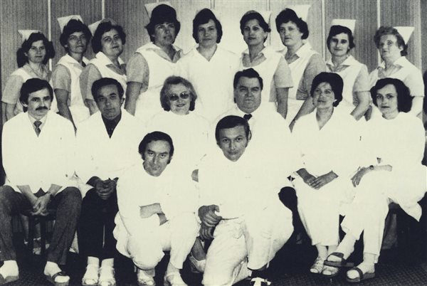 Kolektív lekárov a sestier zdravotníckeho strediska v š.p. Vihorlat Snina